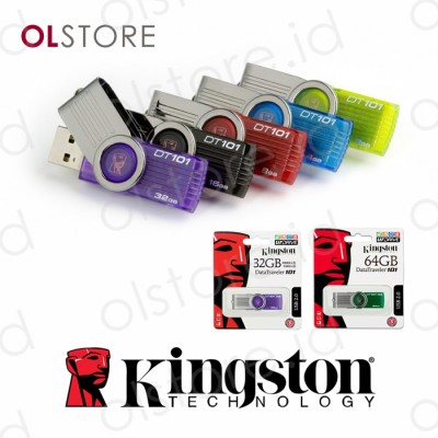 Kingston USB Flash Disk 8GB, 16G, 32G, 64G DT101G2 Rotasi USB 2.0